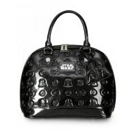 Buy cheap STAR WARS STAR WARS DARTH VADER DARKSIDE PATENT EMBOSSED BAG BY LOUNGEFLY product