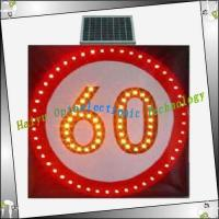 China Solar prohibition sign HY-JZ10 Speed limit signs on sale