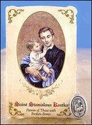 Buy cheap St Stanislaus Kostka (Broken Bones) Healing Holy Card with Medal product