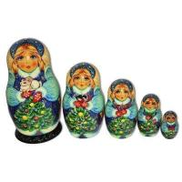 China Snowmaiden with Christmas Bunny Matryoshka wholesale