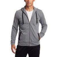Hugo Boss Mens Sleepwear Jacket With Hoodie Grey Small from HUGO BOSS