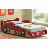 Buy cheap Contemporary Red Kids Twin Race Car Bed product