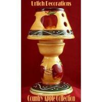 China Country apple ceramic t-light holder wholesale