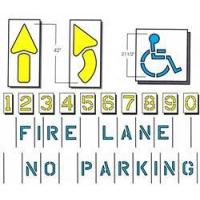 Buy cheap Parking Stencil Kit, Standard 9 item product