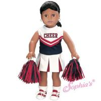 China Red and Navy Cheerleader Outfit on sale