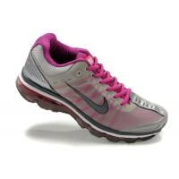 China Nike Air Max Womens 2009 Shoes - Grey/Purple/Black Sole on sale
