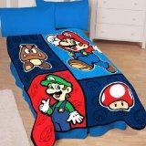 Buy cheap Super Mario Time to Team Up 50-by-60-Inch Microraschel Throw Blanket product