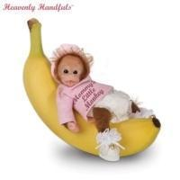 Heavenly Handfuls Li'l Monkey Hugs Collectible Baby Monkey Doll CollectionModel # CT913327