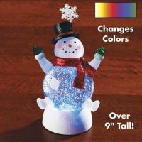 China Glitter Snowman With Snowflake wholesale