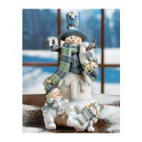 Buy cheap Snowman with Three Snow Kids - Decorative Accessories product