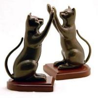 Buy cheap Animal Bookends Nature's Whimsy Curious Cat Bookends from wholesalers