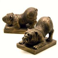 Buy cheap Animal Bookends Resin Bulldog Bookends from wholesalers