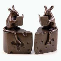 Buy cheap Animal Bookends Nature's Whimsy Mouse On Cheese Bookends from wholesalers