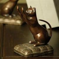 Buy cheap Animal Bookends Nature's Whimsy Scratching Cat Bookends from wholesalers
