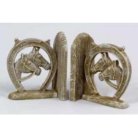Buy cheap Animal Bookends White Washed Iron Horseshoe Bookends from wholesalers