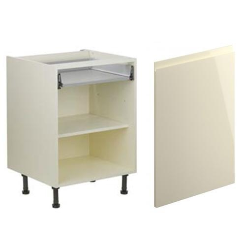 Complete kitchen units handleless high gloss cream units for Cheap kitchen base units 600mm