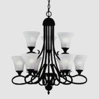 China 9- Bulb, Painted Bronze Chandelier by Thomas Lighting Model #SL8119-63 wholesale