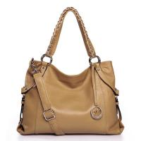Buy cheap NUCELLE Real Genuine Cow Leather Purse Tote Shoulder Hand Beige product