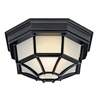 Quality Kichler 11028 Traditional / Classic Single Light Down Lighting Fluorescent Outdoor Ceiling Fixture for sale