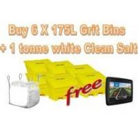 Buy cheap Offers with Free Gifts 6x 175 Litre Grit Bins and 1 Tonne White Rock Salt with Free Gift product