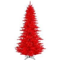 China artificial christmas trees red christmas trees wholesale