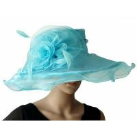 Buy cheap Organza Hats For Women in Baby Blue H041 from wholesalers