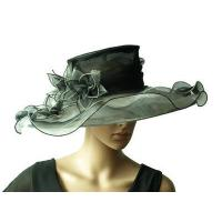 Buy cheap Organza Hats For Women in Black and White H856 from wholesalers