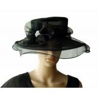 Buy cheap Organza Hats For Women in Black PB130418 from wholesalers