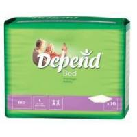 Buy cheap Depend Large Bed Pad - Pack of 10 product