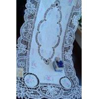 """Buy cheap Vintage Hand Buttenburg/Embroide Table Runner 18""""x40"""" product"""