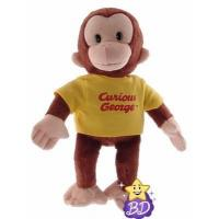 """China Curious George 12"""" Classic George in Yellow Shirt wholesale"""