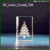 China A tree-Square 3D Laser Crystal wholesale