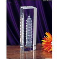 China Pagoda Building-Square 3D Laser Crystal wholesale