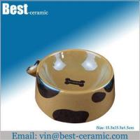 Ceramic pet bowl ceramic pet feeder