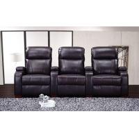 China Electric or Manual Genuine Leather Home Theater Sofa Recliners for Living Room on sale