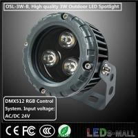 Buy cheap LED Spotlight 3W DMX512 RGB LED Flood Light input 24V OSL-3W-B-DMX product