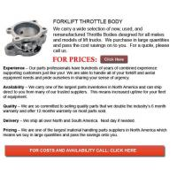 Quality Throttle Body for Forklifts for sale