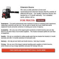 Buy cheap Forklift Extension Booms from wholesalers