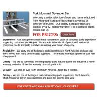 Buy cheap Fork Mounted Spreader Bar from wholesalers