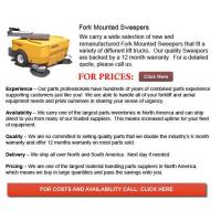 Buy cheap Fork Mounted Sweeper from wholesalers