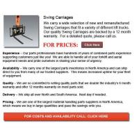 Buy cheap Swing Carriages from wholesalers
