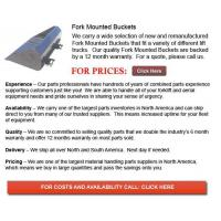 Buy cheap Fork Mounted Buckets from wholesalers