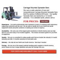 Buy cheap Carriage Mounted Spreader Bar from wholesalers