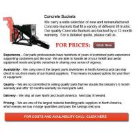 Buy cheap Concrete Buckets from wholesalers