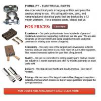 Buy cheap Electrical Part for Forklifts from wholesalers