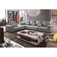 China Contemporary Light Grey L Shape Fabric Sofa on sale