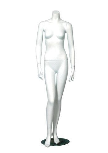 Quality Headless Female Mannequin Hands on Side Right Knee Bent for sale