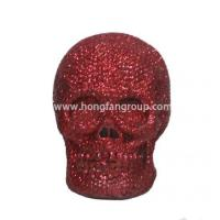 China Resin Horrible Skull Head For Halloween Decoration on sale