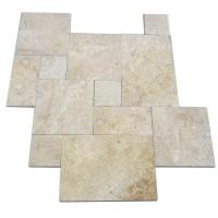 Buy cheap Honed Travertine Natural Slate Wall Tile , Rough Natural Stone Bathroom Tiles 12 X 6 product