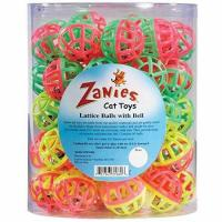 Buy cheap Zanies Plastic Lattice Balls Cat Toy Canister, 50-Pack product
